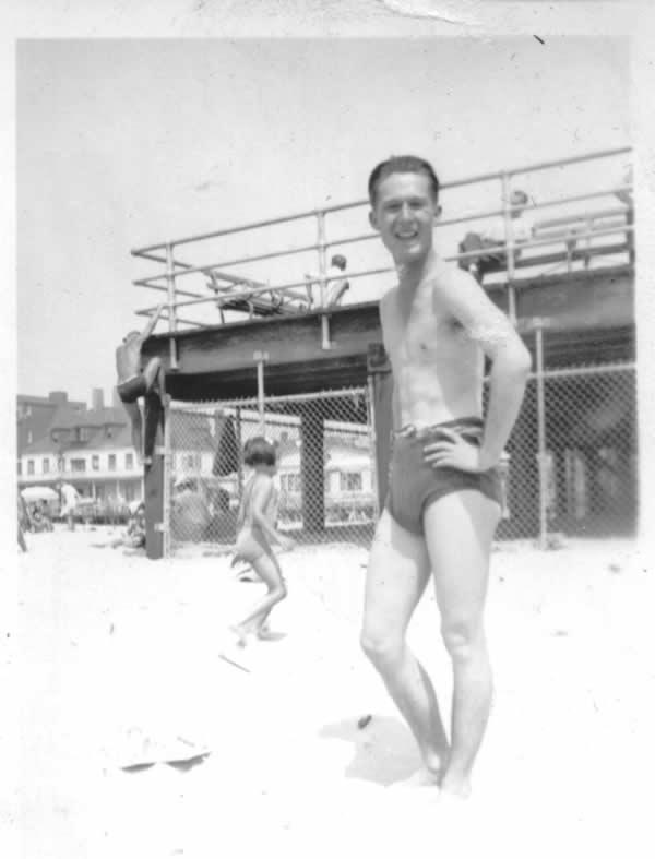 Me at age 16, Rockaway Beach, 1941